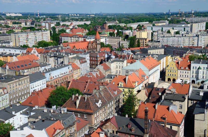 格利维采的看法在波兰 免版税图库摄影