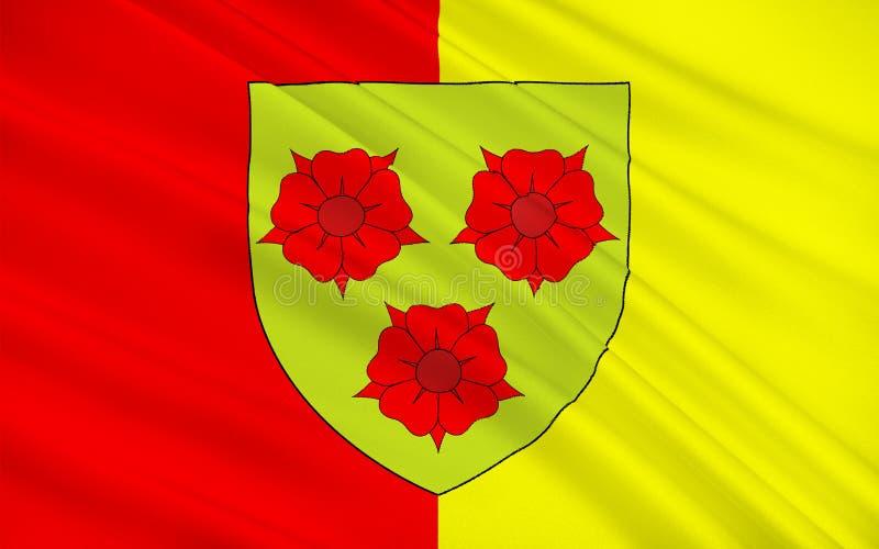 格勒诺布尔,法国旗子  库存例证