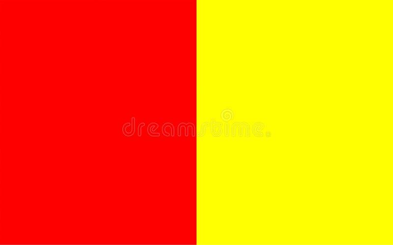 格勒诺布尔,法国旗子  向量例证
