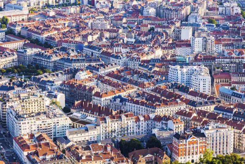 格勒诺布尔建筑学-鸟瞰图 免版税库存照片