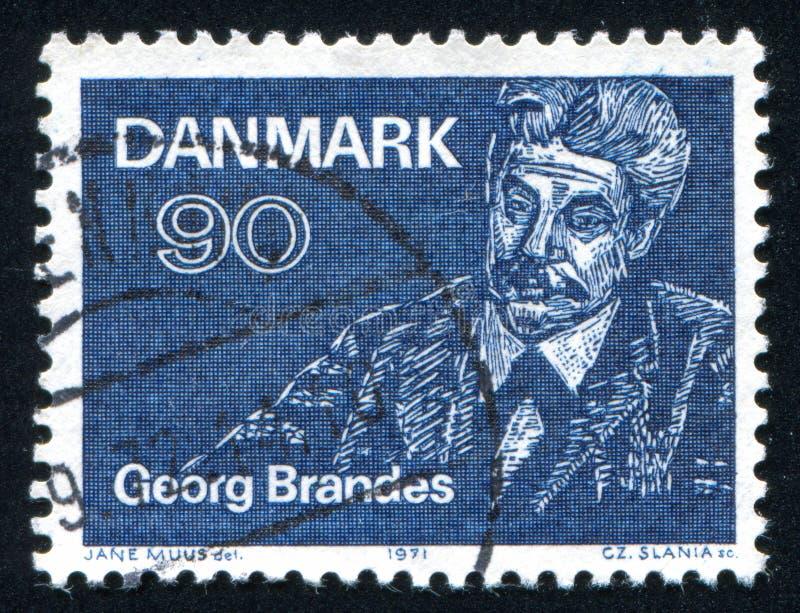 格奥尔布兰德斯作家和文艺评论家 免版税库存图片