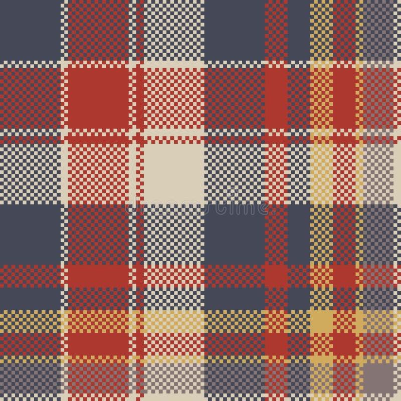 格子呢粗糙的织品纹理无缝的样式 库存例证