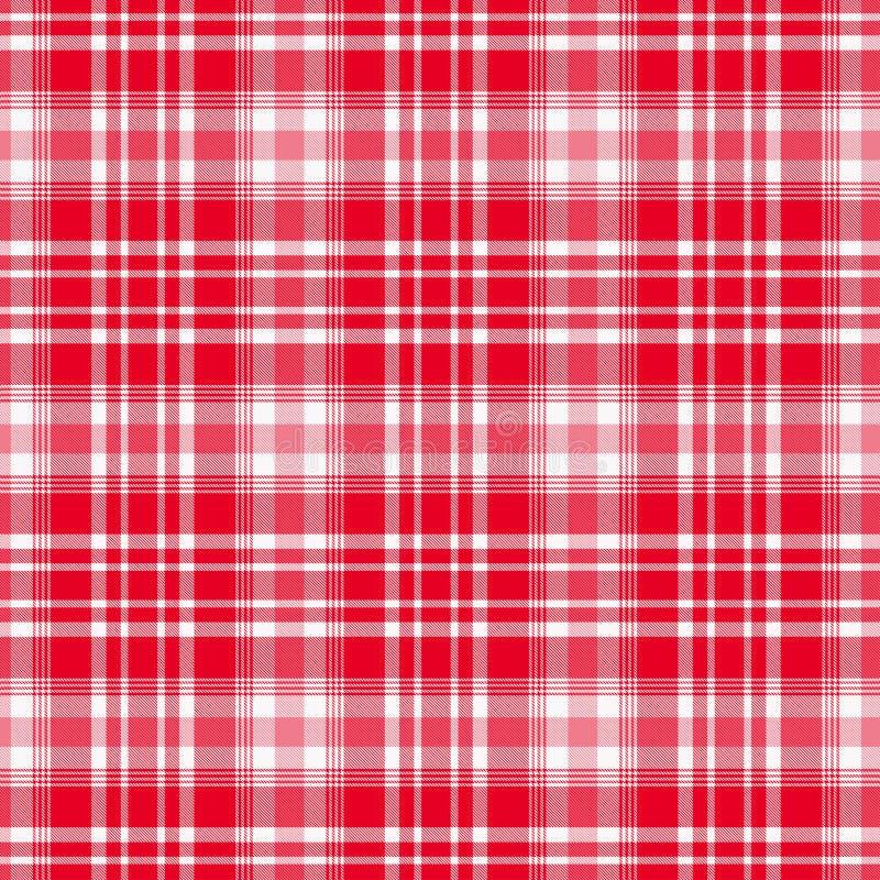 格子呢,红色和白色格子花呢披肩样式 格子花呢披肩的,桌布,衣裳,衬衣,礼服,纸,卧具,毯子,被子纹理 皇族释放例证