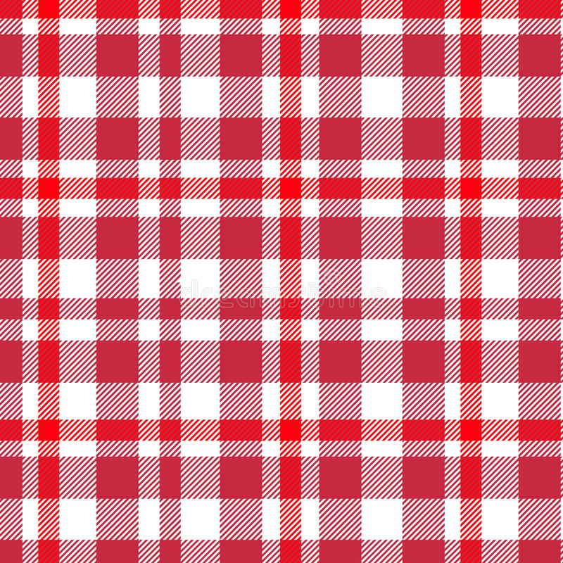 格子呢,红色和白色格子花呢披肩样式 格子花呢披肩的,桌布,衣裳,衬衣,礼服,纸,卧具,毯子,被子纹理 向量例证