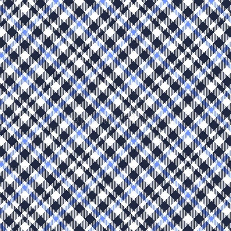 格子呢,蓝色,白色和黑格子花呢披肩样式 格子花呢披肩的,桌布,衣裳,衬衣,礼服,纸,卧具,毯子纹理, 皇族释放例证