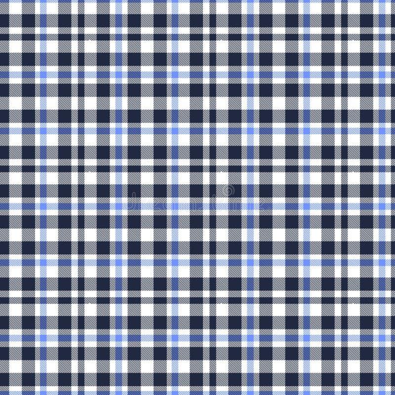 格子呢,蓝色,白色和黑格子花呢披肩样式 格子花呢披肩的,桌布,衣裳,衬衣,礼服,纸,卧具,毯子纹理, 库存例证