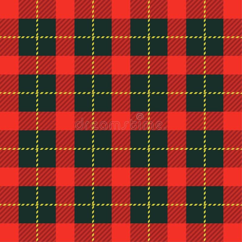 格子花呢披肩格子呢无缝的样式背景 传统苏格兰装饰品 伐木工人样式 向量例证