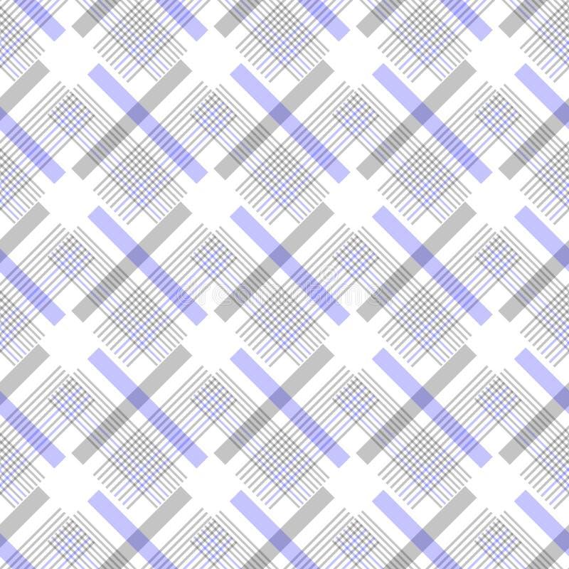 格子花呢披肩格子呢无缝的样式背景 传统苏格兰装饰品 无缝的格子呢瓦片 Wal的时髦传染媒介例证 库存例证