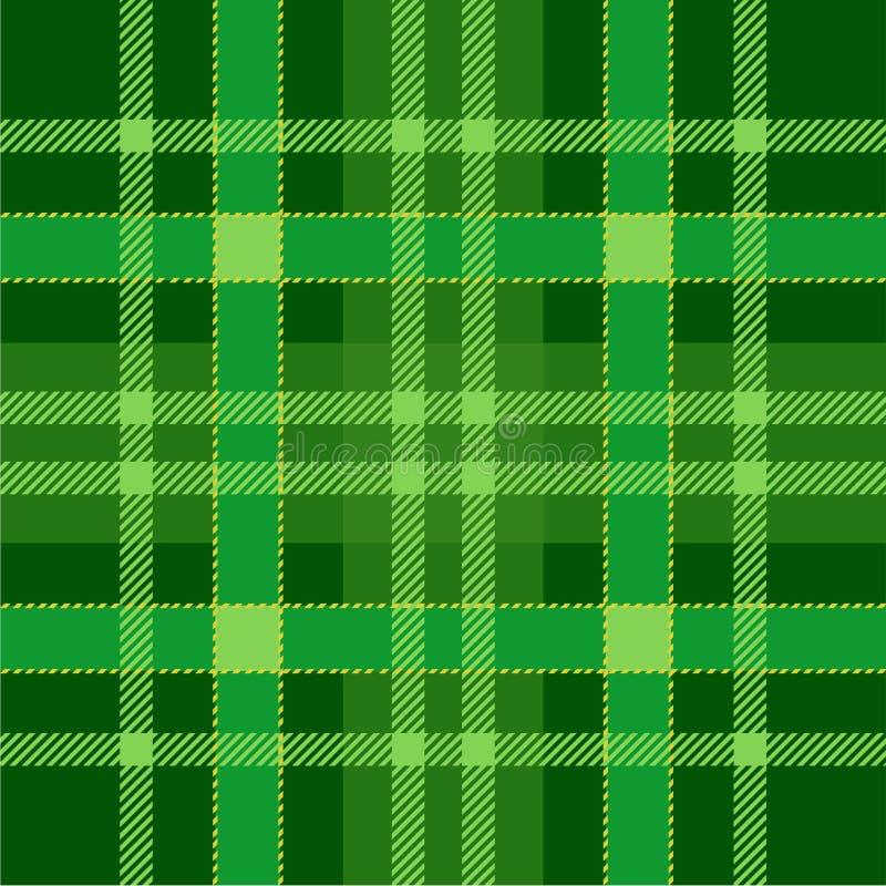 格子花呢披肩格子呢无缝的样式背景 绿色传统苏格兰装饰品 无缝的格子呢瓦片 皇族释放例证