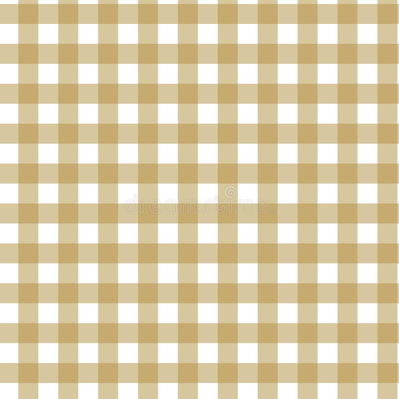 格子花呢披肩格子呢无缝的样式 布朗,灰棕色,白色颜色 苏格兰人、伐木工人和行家时尚样式 向量例证