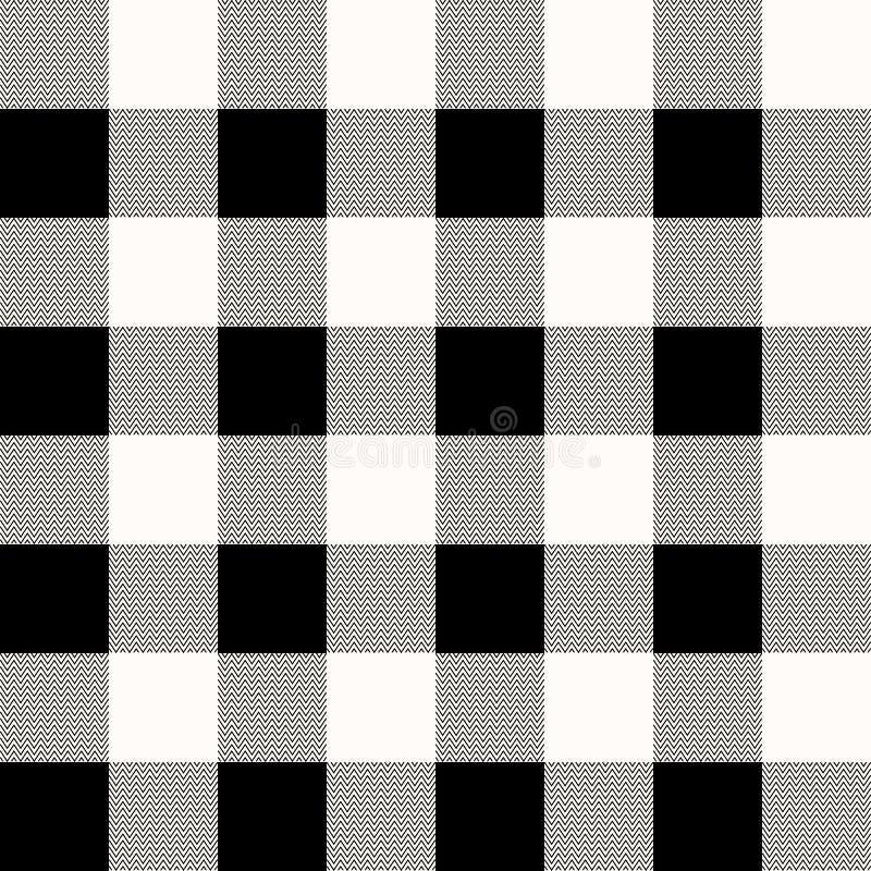 格子花呢披肩格子呢无缝的样式 布朗,灰棕色,白色颜色 苏格兰人、伐木工人和行家时尚样式 皇族释放例证