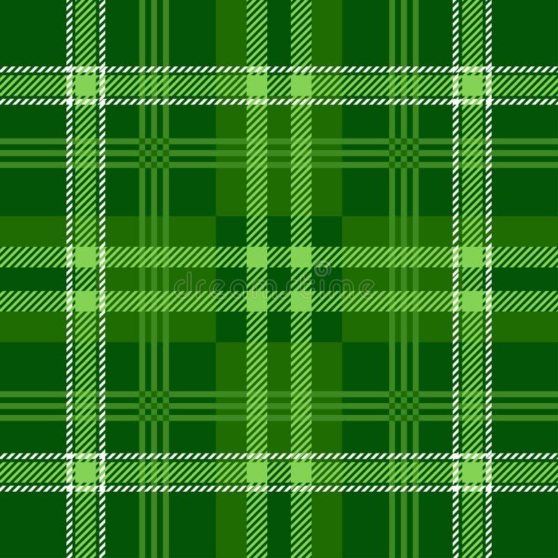 格子花呢披肩格子呢无缝的样式 绿色 苏格兰人、伐木工人和行家时尚样式 皇族释放例证