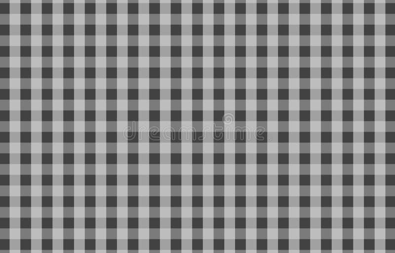 格子花呢披肩的,桌布灰色桌布方格花布样式背景 库存例证