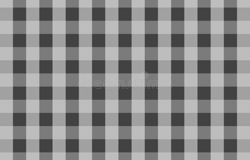 格子花呢披肩的,桌布灰色桌布方格花布样式背景 皇族释放例证