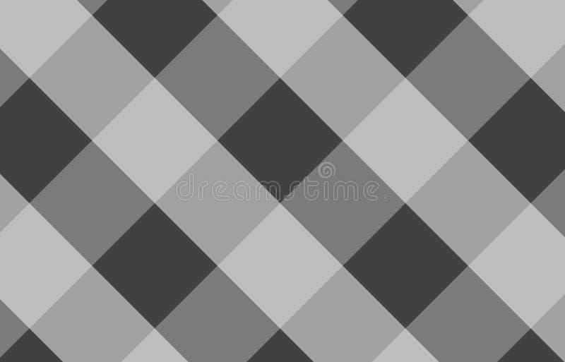 格子花呢披肩的,桌布灰色桌布方格花布样式背景 向量例证