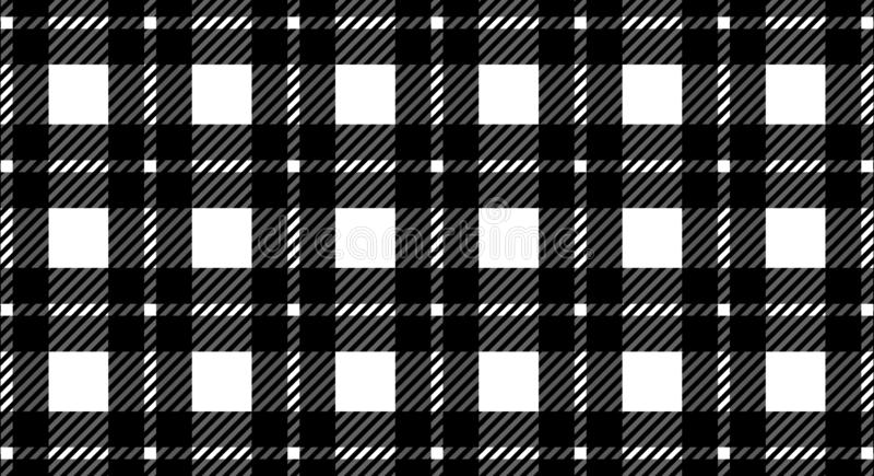 格子花呢披肩的,纺织品文章的,例证桌布黑白方格花布样式背景 Eps10 皇族释放例证