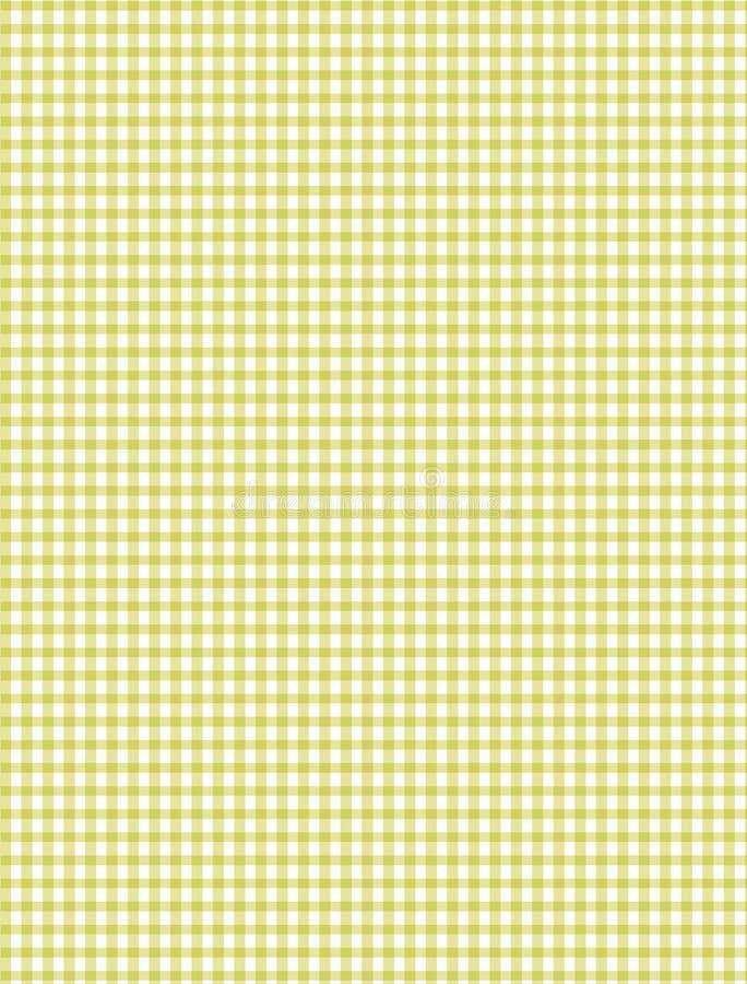格子花呢披肩空白黄色 皇族释放例证