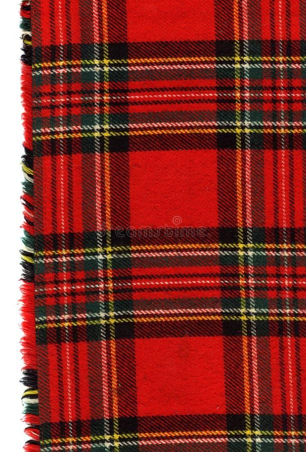 格子花呢披肩红色苏格兰人 库存图片