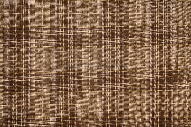 格子花自然棉织物 背景的无缝的瓦片纹理 免版税图库摄影