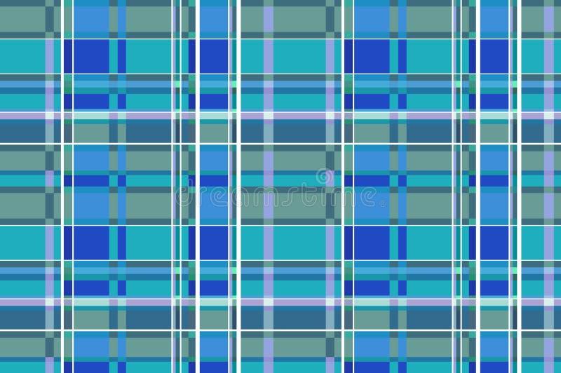 格子花苏格兰无缝的样式背景 黑色和蓝色套 法绒衬衣样式 时髦瓦片导航 皇族释放例证