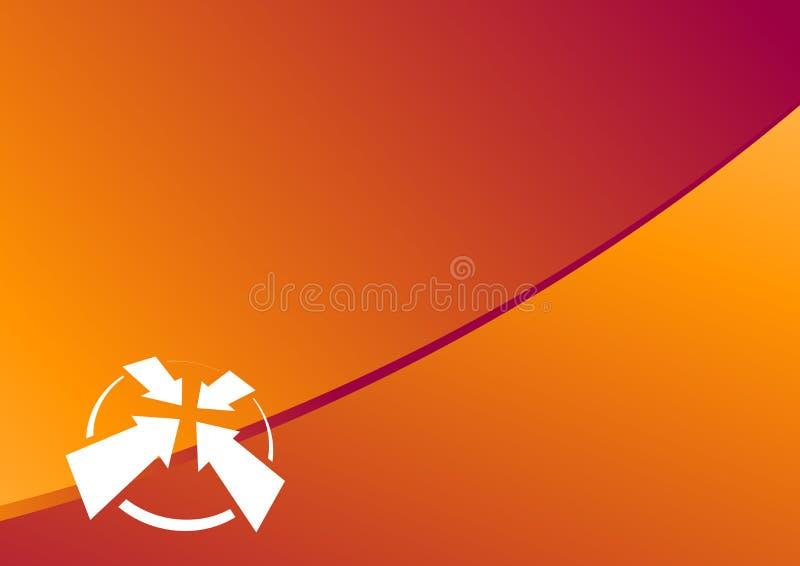 格式定位桔子 免版税库存图片