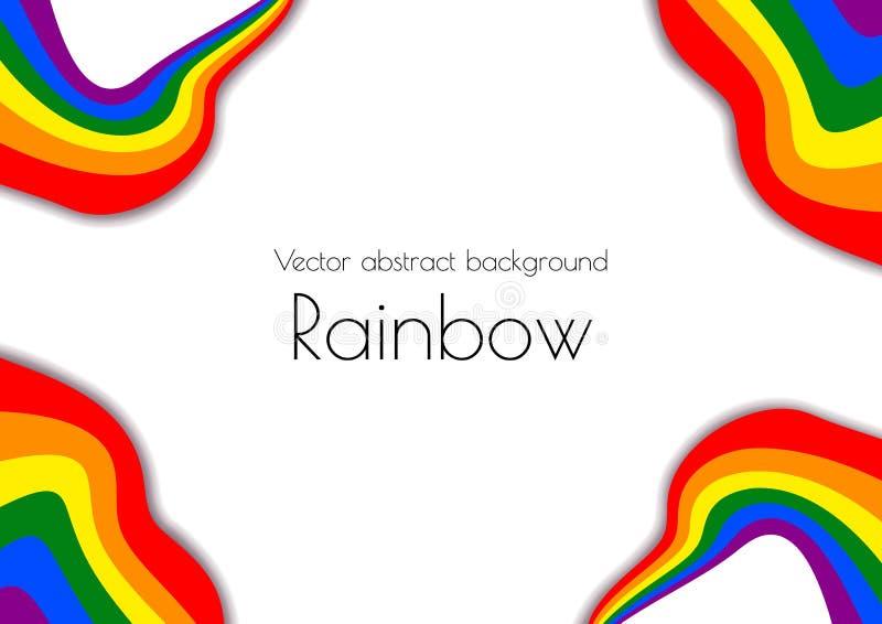 A4格式装饰仿照彩虹裁减纸样式 LGBT题目 传染媒介例证适用于海报 向量例证