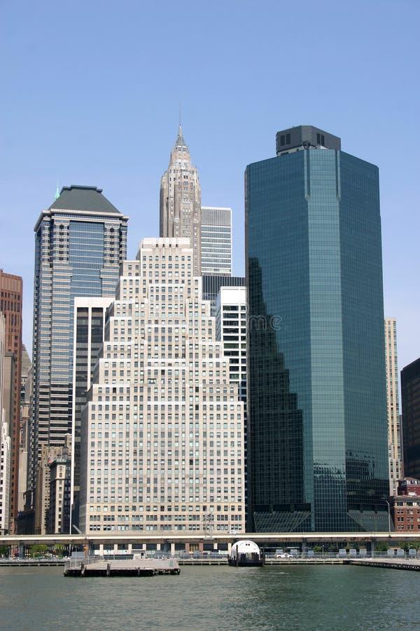 格式nyc地平线垂直 免版税库存照片