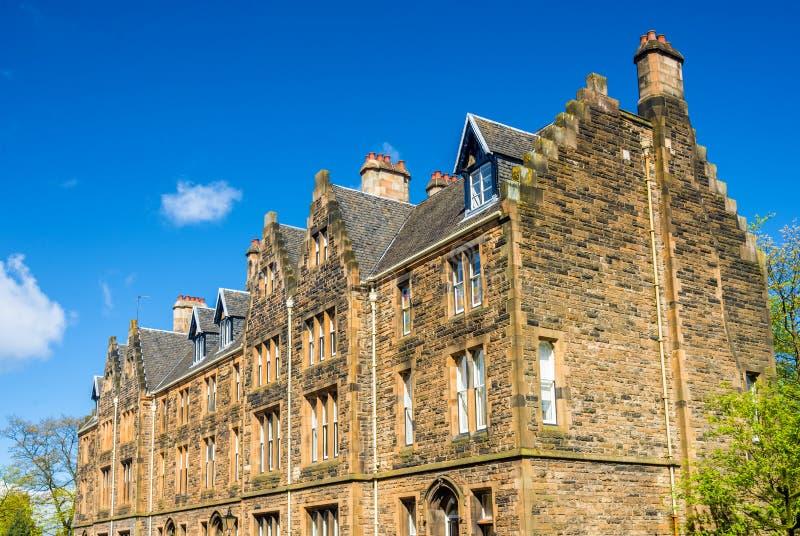 格拉斯哥大学的方形大厦 库存照片