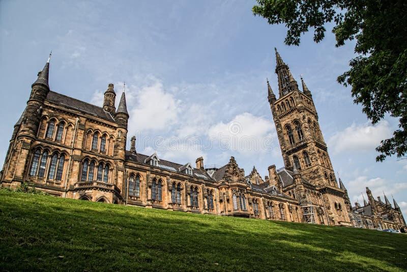 格拉斯哥大学,苏格兰 库存图片