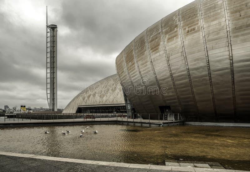 格拉斯哥科学中心和塔,苏格兰 免版税库存图片