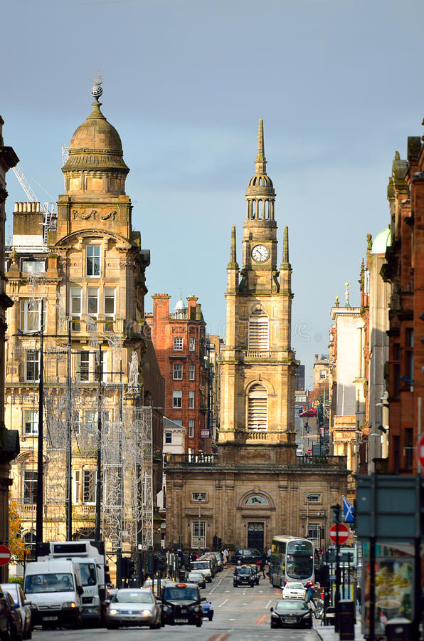 格拉斯哥,苏格兰的储蓄图象 免版税图库摄影