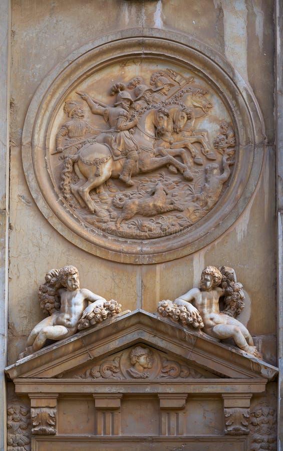 格拉纳达卡洛斯五世西班牙阿尔罕布拉  免版税库存照片
