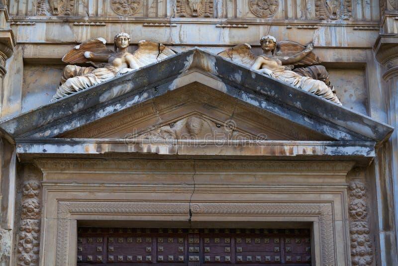 格拉纳达卡洛斯五世西班牙阿尔罕布拉  库存照片