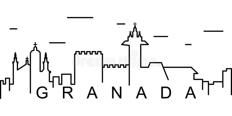 格拉纳达概述象 能为网,商标,流动应用程序,UI,UX使用 库存例证