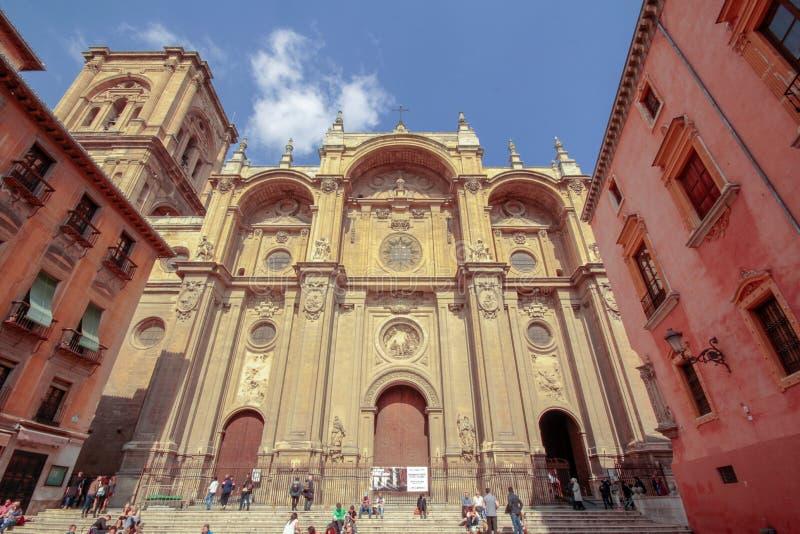 格拉纳达,安大路西亚,西班牙大教堂  库存照片