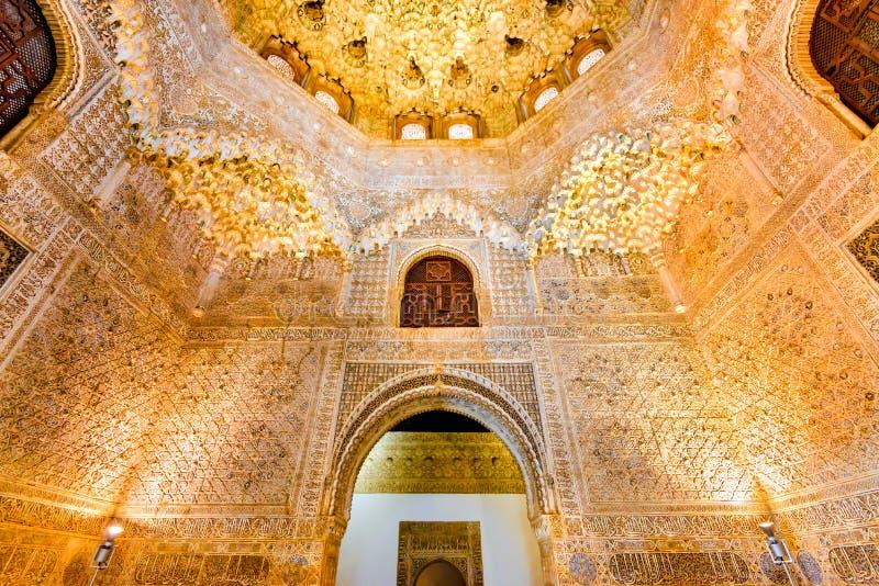 格拉纳达,安大路西亚,西班牙-阿尔罕布拉宫宫殿 免版税库存照片