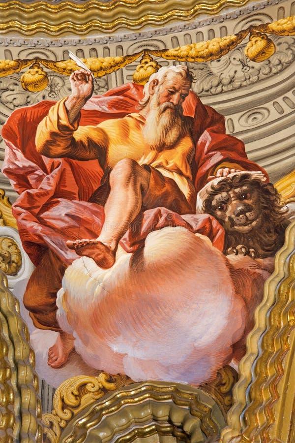 格拉纳达-圣马克壁画福音传教士在教会莫纳斯特里奥de la Cartuja里 库存图片