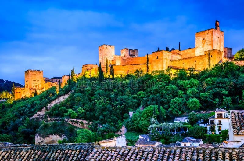 格拉纳达-阿尔罕布拉宫,安大路西亚,西班牙 免版税库存照片