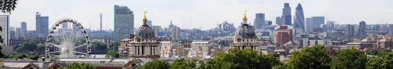 格林威治伦敦地平线 免版税库存图片