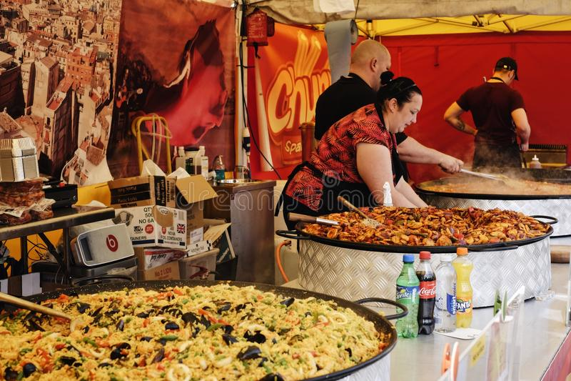 格林威治星期天食物市场 免版税图库摄影