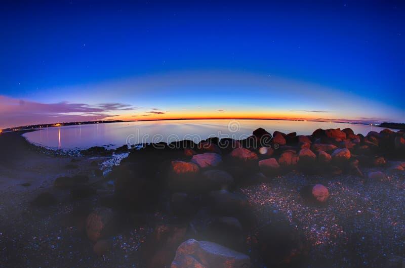 格林威治海湾港口海口在东部格林威治罗德岛州 免版税库存照片