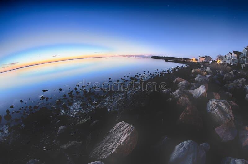 格林威治海湾港口海口在东部格林威治罗德岛州 图库摄影