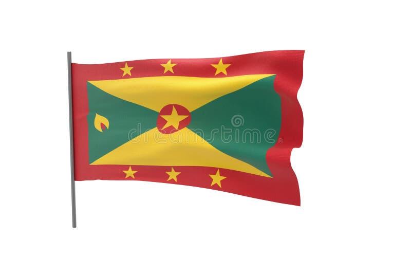 格林纳达旗子  向量例证