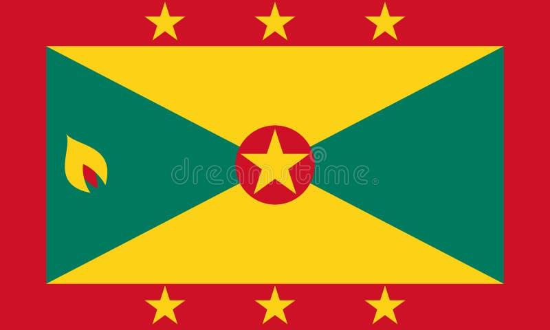 格林纳达旗子  库存例证