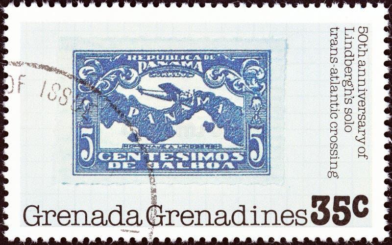 格林纳达格林纳达–1978年:格林纳达印有的一枚印有巴拿马邮票,1928年,约1978年 库存照片