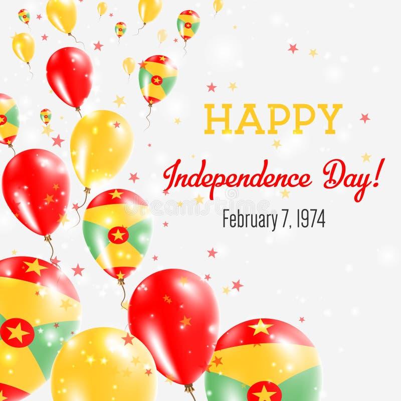 格林纳达美国独立日贺卡 库存例证