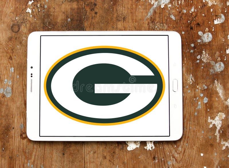 格林贝包装员橄榄球队商标 免版税图库摄影