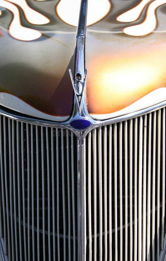 格栅旧车改装的高速马力汽车 免版税库存图片