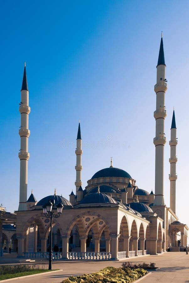 格罗兹尼,俄罗斯的主要清真寺 免版税库存照片