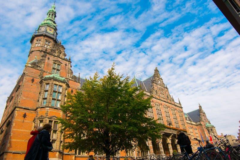 格罗宁根大学在荷兰 免版税库存图片